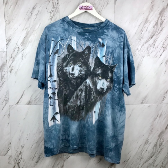 Vintage Other - Vintage Wolves Acid Was T-Shirt